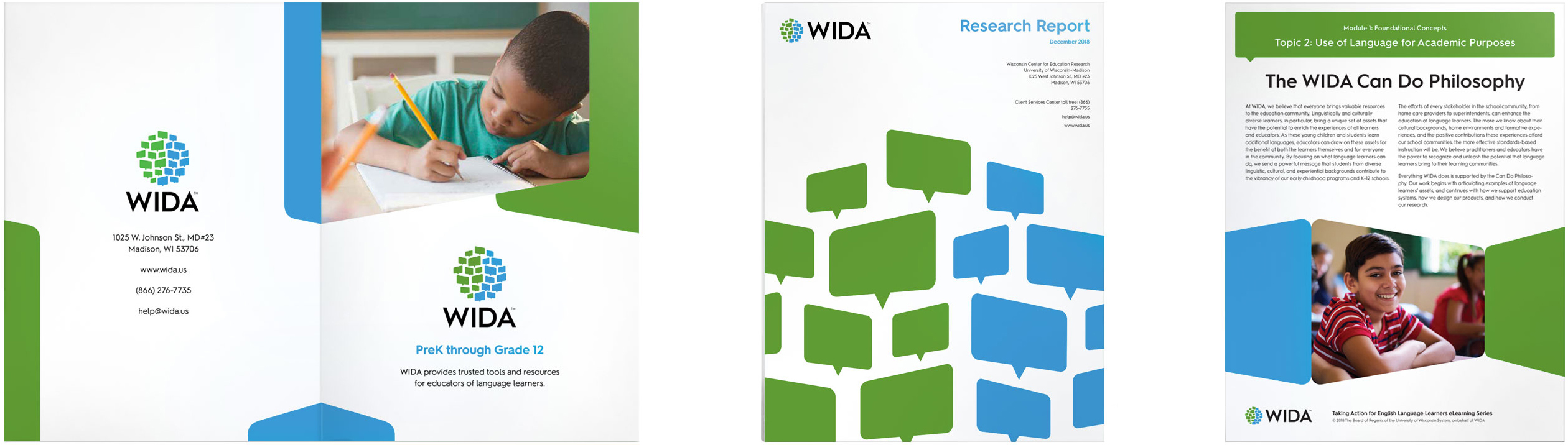 WIDA publications and brochures